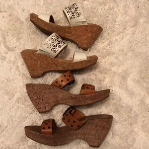 Two pairs of wedges Nuture and Matisse